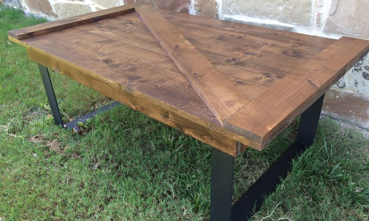 Barn Door Coffee Table Custom Furniture Near Plano