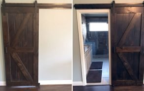 Double Angle Brace Barn Door | Handmade Rustic Barn Door Celina