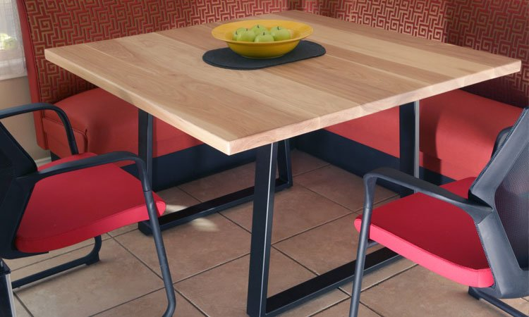 Hardwood & Steel Table | Commercial Modern Style Tables Irving