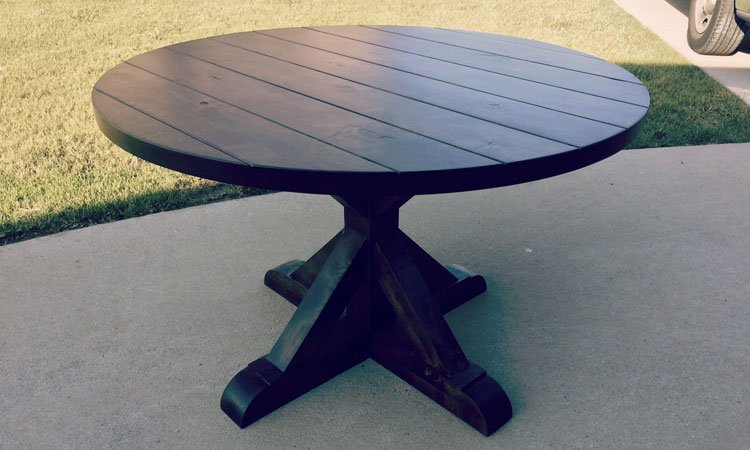 Round Farmhouse Table | Rustic Wood Tables Frisco